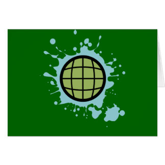 Globe Splotch. Card
