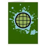 Globe Splotch. Card