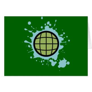 Globe Splotch. Greeting Cards