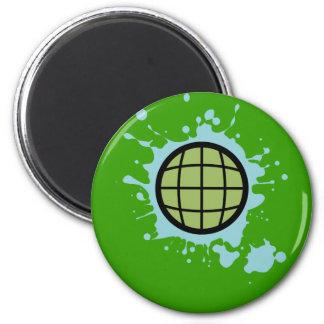 Globe Splotch. Magnets