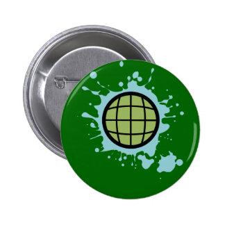 Globe Splotch. Pinback Button