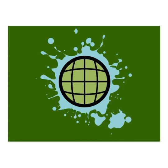 Globe Splotch. Postcard