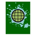 Globe Splotch. Postcards