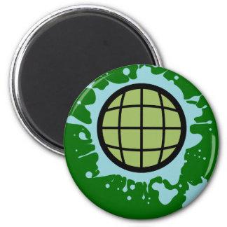 Globe Splotch. Refrigerator Magnet