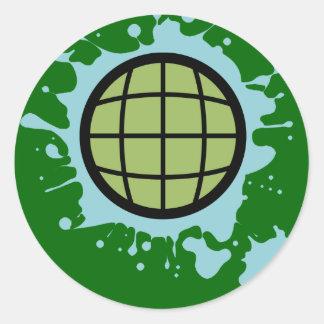 Globe Splotch. Round Sticker
