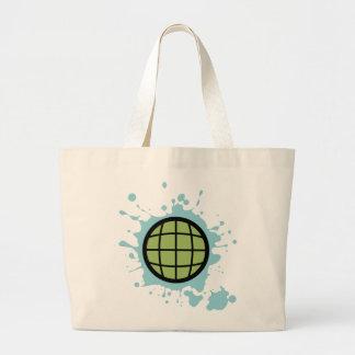 Globe Splotch. Tote Bags