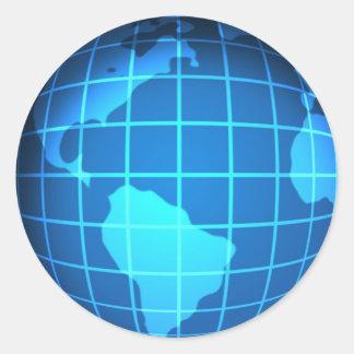Globe Round Sticker