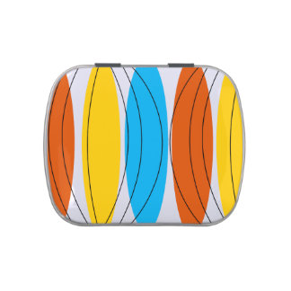 Globe Stripe candy tin