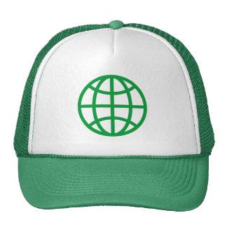 Globe Symbol - Grass Green Trucker Hat