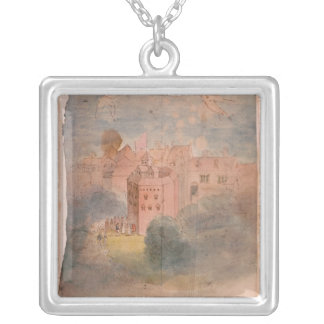 Globe Theatre, Southwark Silver Plated Necklace