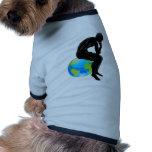 Globe thinker concept dog clothes
