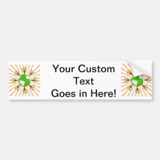 globe trees bursting out rays.png bumper stickers