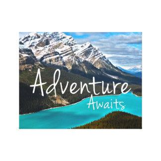 Globe Trotter Adventure Awaits Canvas Print