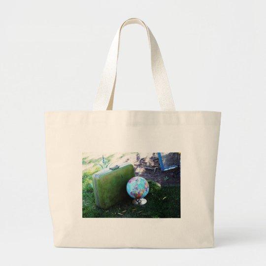 Globe Trotter Large Tote Bag