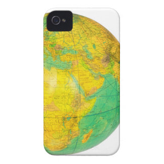 Globe with planet earth isolated on white Case-Mate iPhone 4 case