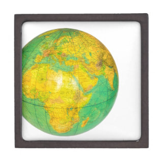 Globe with planet earth isolated on white keepsake box