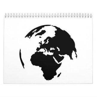 Globe world calendar
