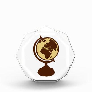 Globe world map award