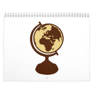 Globe world map calendar