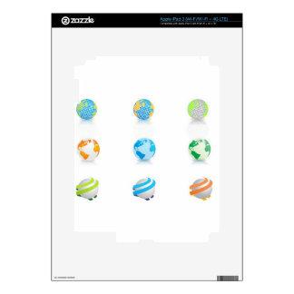 Globes icons design iPad 3 skin