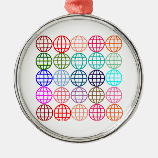 Globes Round Circles Metal Ornament
