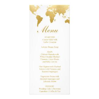 Globetrotter Glam Wedding Menu Card
