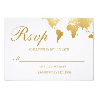 Globetrotter Glam Wedding RSVP Card
