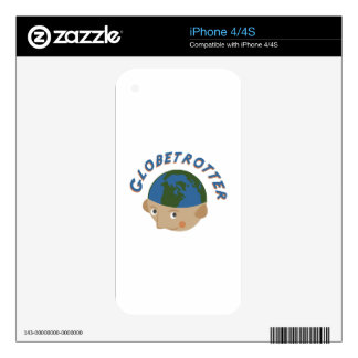 Globetrotter iPhone 4 Decal