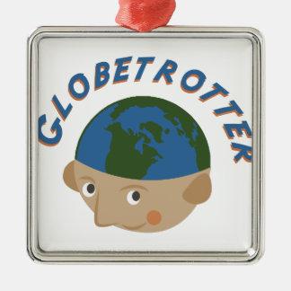 Globetrotter Metal Ornament