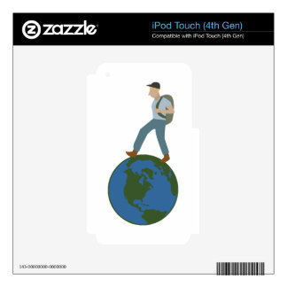 Globetrotter Plan Decal For iPod Touch 4G
