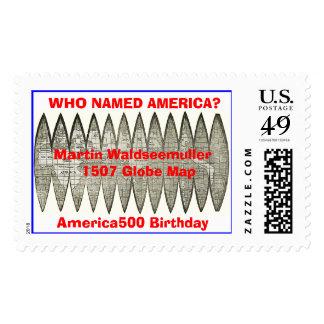 globlg,  WHO NAMED AMERICA?Martin Waldseemuller... Postage Stamps