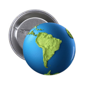 Globo 3d aislado en blanco. Suramérica continente