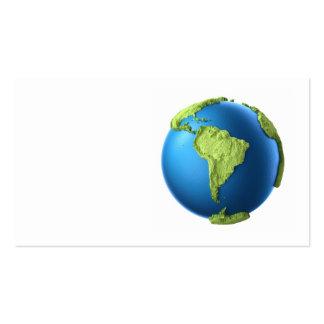 Globo 3d aislado en blanco. Suramérica continente Tarjetas De Visita