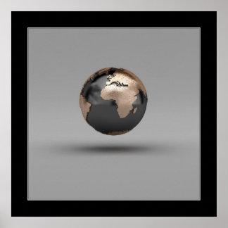 globo 3D Póster