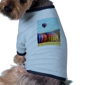 Globo 4 del aire caliente camiseta con mangas para perro