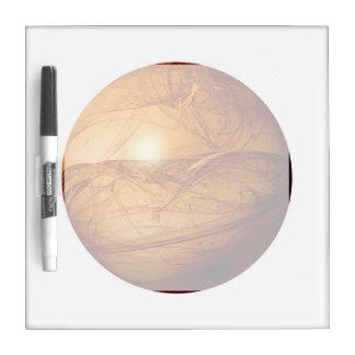 Globo abstracto de Brown Tablero Blanco