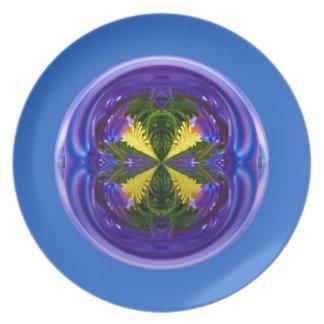 Globo abstracto del chulo cuatro plato de comida