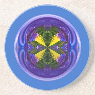Globo abstracto del chulo cuatro posavasos diseño