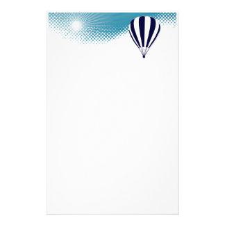 globo altísimo del aire caliente personalized stationery