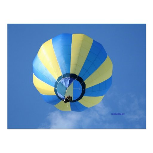 ¡Globo, amarillo y azul! Tarjeta Postal