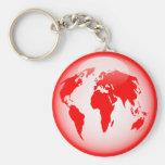 Globo brillante rojo llaveros personalizados