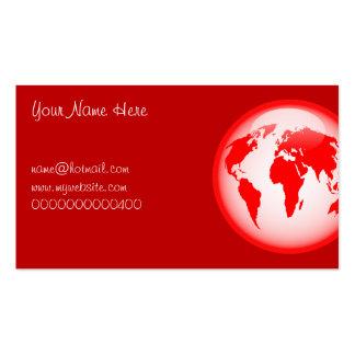 Globo brillante rojo, su nombre aquí, tarjetas de visita