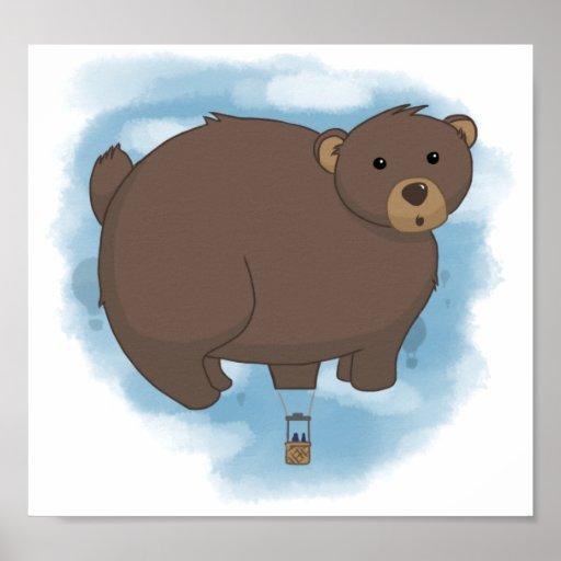 Globo caliente del oso impresiones