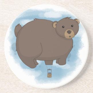 Globo caliente del oso posavaso para bebida
