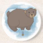 Globo caliente del oso posavasos cerveza