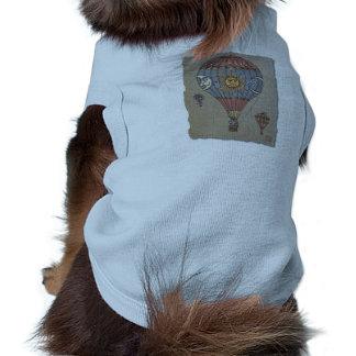 Globo colorido del aire caliente ropa de mascota
