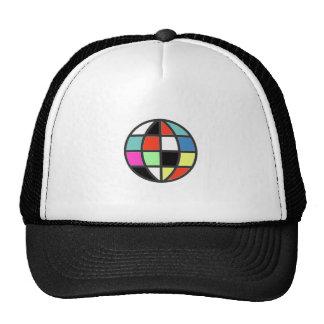 globo colorido del mundo gorros bordados