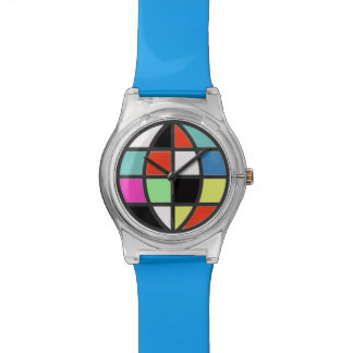 globo colorido del mundo relojes