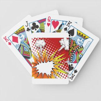 Globo cómico baraja cartas de poker