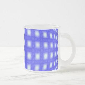 Globo cuadrado del punto taza de café esmerilada